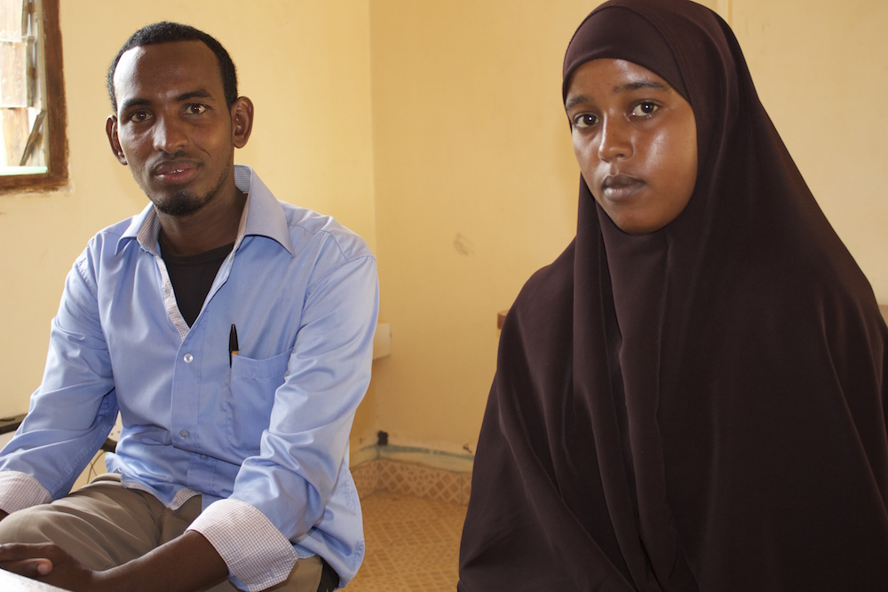 Fatuma Abdi and Ali Abdi Hassan, an Outreach Volunteer